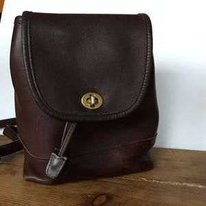 Coach Vintage Small Brown Backpack 9960
